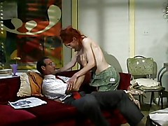 MILF Redhead Blowjob Caucasian Couple Cum Shot Deepthroat Licking Vagina MILF Oral Sex Redhead Vaginal Sex