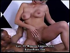 hunt blond cocksuck busty shaved sperm interracial