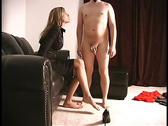 Femdom Handjobs Stockings