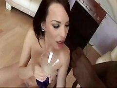 cumshot brunette cuminmouth cumswallow cumglass