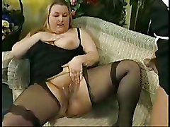 BBW Pissing Shaved Pussy Stockings