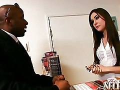 Big Cock Interracial Sasha Grey Secretaries blowjob cumshot oral secretary