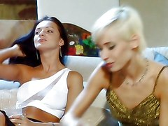 Anal Group Blonde Anal Sex Blonde Blowjob Brunette Caucasian Cum Shot Licking Vagina Masturbation Oral Sex Shaved Stockings Threesome Vaginal Masturbation Vaginal Sex