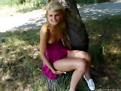 amateurs outdoor russian chicks blonde