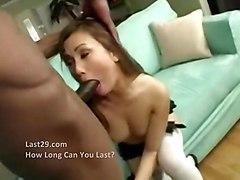 stockings cumshot hardcore interracial blowjob shaved asian pussyfucking