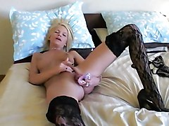 Amateur Masturbation Blonde Amateur Blonde Caucasian Masturbation Solo Girl Stockings Tattoos Toys Vaginal Masturbation