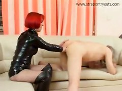 fingering mature redhead boots latex strapon fetish fisting femdom girlfucksguy