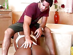 Bathroom Ebony Interracial