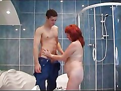 Granny Moms and Boys bathroom sex redheads