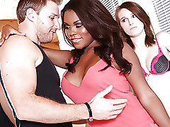 Big Tits Ebony blowjob boobs brunette busty oral teen pornstar
