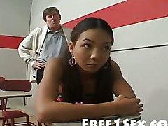 Asian Hardcore Schoolgirls class headmaster principal schoolgirl student teacher