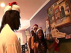 Christmas Doggy Style Ebony Facials Group Sex Uniform