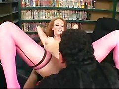 stockings fucking redhead heels nylons audrey hollander stilettos seamed thigh high