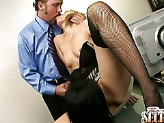 Group Sex Jenny Hendrix Rebeca Linares Secretaries Threesome cumshot facial oral secretary blowjob