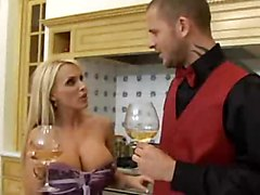 Busty Blond Uses All Means To Get Cocks In Twat