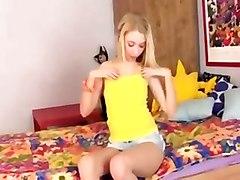 blonde dildo coed toys