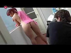 redhead bathroom brazilian redhair sexy of oliveira making magazine tati shower tatiana tatiane