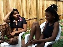 ebony black and lesbians threesomes