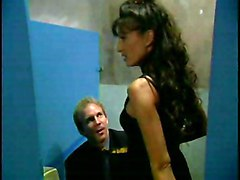 Public Black-haired Blowjob Caucasian Couple Cum Shot Licking Vagina Oral Sex Public Toilet Vaginal Sex