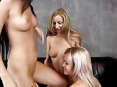Dildos Lesbian Toys ass boobs brunette cunningulus oral tee