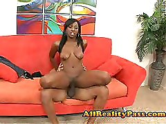 Ebony Riding Teen