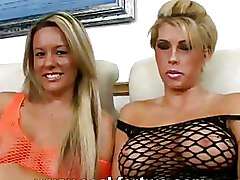 Big Tits Blowjobs FFM black fishnet blondes