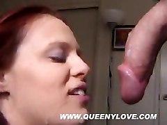 cumshot facial blowjob redhead salivating cuminmouth