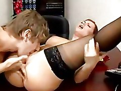 Pussy Licking Secretaries Stockings