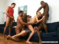 blonde interracial orgy gangbang dp blowjob