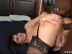 eva karera brunette milf mature busty huge tits boobs ass butt booty big black cock interracial anal hardcore sex