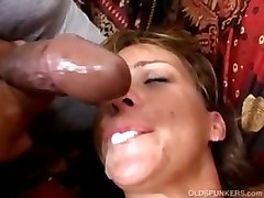 mature milf anal facial cumshot threesome hardcore