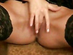 Leather Masturbation Stockings lingerie milf softcore solo