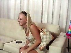 Lesbian Dildo Ass Boobs Toys Hot GirlLesbian Babes Toys Blonde