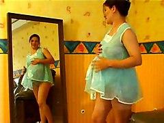 Masturbation Brunette Caucasian Masturbation Pregnant Shaved Solo Girl Vaginal Masturbation