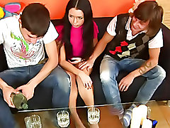 Group Sex Teen Threesome blowjob fucking