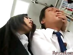 asian japanese public force handjob