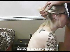 Amateur Glasses Tattoo blonde doggy style
