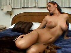 milf brunette masturbation solo