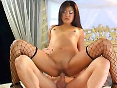 Asian Asian Brunette Couple Small Tits Stockings Vaginal Sex