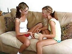 Kissing Lesbian Teen
