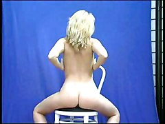Blonde Blonde Caucasian Solo Girl Striptease