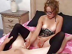 Glasses Handjobs Lingerie Teen