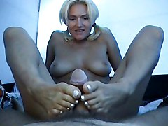 Amateur Cumshot Blonde Amateur Blonde Caucasian Couple Cum Shot Footjob Handjob Masturbation