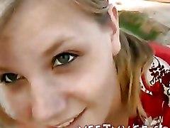 Beach Teen blonde blowjob