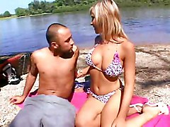 Public Blonde Bikini Blonde Blowjob Caucasian Couple Cum Shot Masturbation Oral Sex Outdoor Public Shaved Swallow Titfuck Vaginal Sex