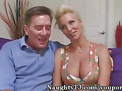 Blondes Threesome mmf wife