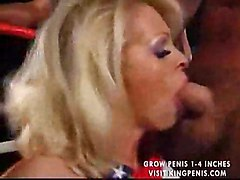 cocksuck deepthroat nice tits group cumshot blowjob interracial