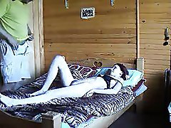 Amateur Hidden Cams Homemade bedroom redhead riding