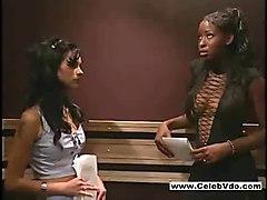 sex lesbian interracial elevator