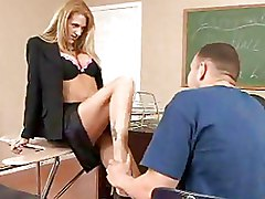 Milf Teachers blonde classroom